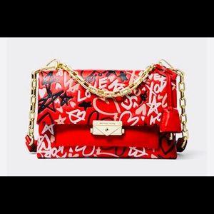 New MICHAEL KORS Cece Qixi Graffiti Shoulder Bag